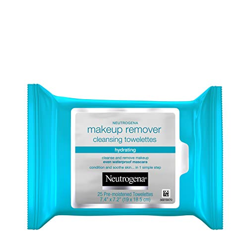 Neutrogena Hydrating Makeup Remover Face Wipes and Pre-Moistening Facial Cleansing Towlettes,...