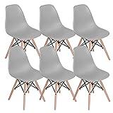 Lot de 6 chaises de salle à manger Mübbles Moderne du milieu du siècle Chaise...