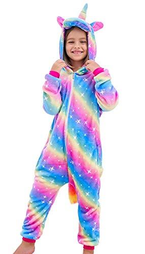 DRESHOW Bambini Unicorno Pigiama delle Onesie,Ragazza Ragazzo Anime Cosplay Halloween Natale Party Costume Attrezzatura Sleepwear