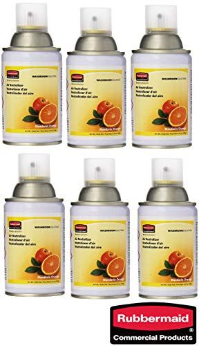 Rubbermaid Commercial Microburst Standard Aerosol Refill, Mandarin Orange, (6 Pack)