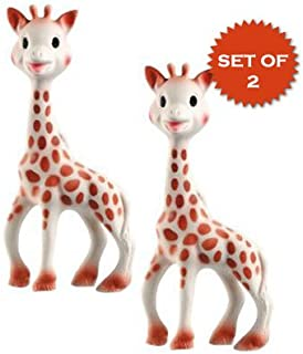 Vulli Sophie the Giraffe Teether Set of 2, Beige,