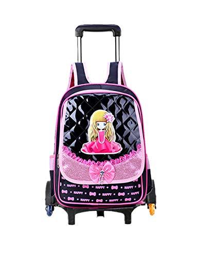 Kinder Trolley Rugzak met Wielen Reis Rugzak Handbagage Koffer met Wieltjes Koffer Waterbestendig Schooltassen voor Meisjes Kinderen