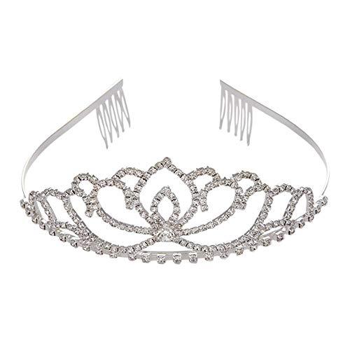 Alberta Valentine s Day Tiara cristalina Hairband Muchacha del Cabrito de Novia Fiesta de la Princesa Corona Prom Prom accessiories Princesa Corona diadema-05 (Color : 01)