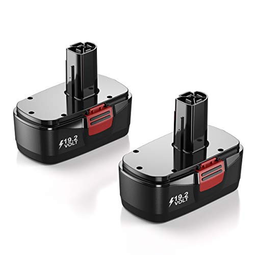 2 Packs 19.2Volt 3.8Ah Replacement Battery compatible for Craftsman DieHard C3 315.115410 315.11485 130279005 1323903 120235021 11375 11376 Cordless Drills