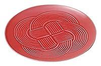 赤結大皿 [ φ25.5 x 2.2cm ] [ 丸大皿 ] | 飲食店 和食 旅館 ホテル 業務用