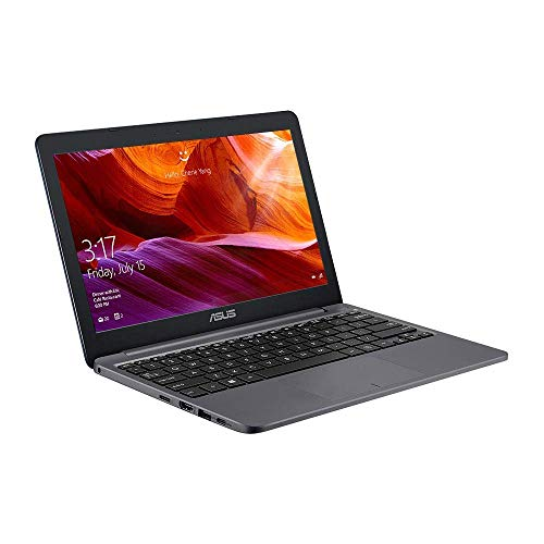 ASUS 11.6 inch VivoBook with Microsoft Office 365 - E203NA 11.6 inch Laptop (Intel Celeron N3350, 4GB RAM, 64GB eMMC, Windows 10), Grey (Renewed)