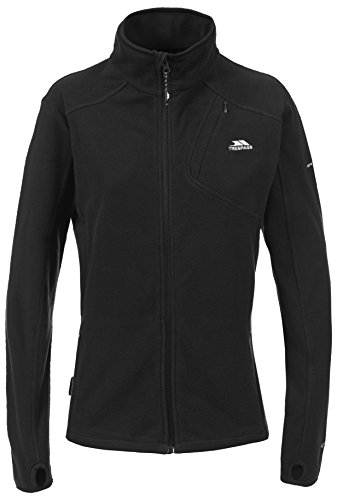 Trespass Saskia, Black, M, Ultraleichtes Microfleece 150g/m² für Damen, Medium, Schwarz