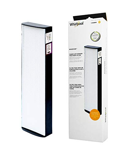 Whirlpool 1183800 - Genuine True HEPA Filter Replacement - Fit for Air Purifier Portable Tower WPT80 - Large