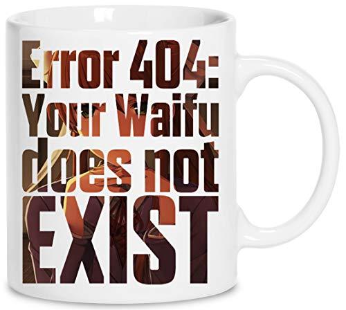 Error 404 - Doki Doki Literature Club Monika Céramique Blanc Tasse Cup Mug