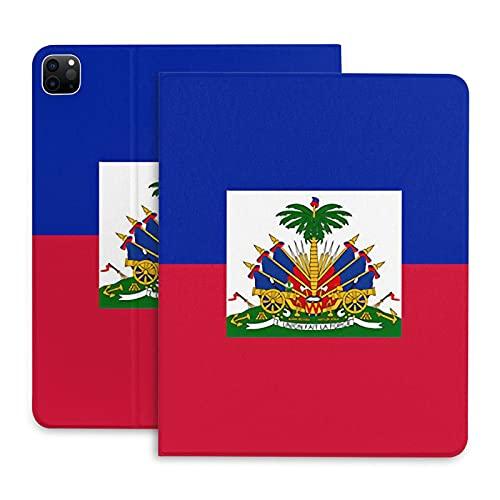 Funda Con Bandera De Haití Para Ipad Pro De 11 '' Con Portalápices Funda Para Ipad Con Tapa Trasera De Tpu Para Apagado / Encendido Automático Y Múltiples Modos De Visualización