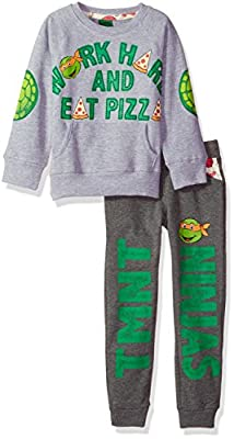 Nickelodeon Toddler Boys TMNT Work Hard and Eat Pizza Jogger Set