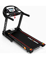 Fitalo Play T4 Lite (4.0 HP Peak) DC Motor Motorised Treadmill with Speaker, Aux Input and LCD Display | Free virtual assistance & Warranty | for Home use, black, Fitalo_PT4-Lite
