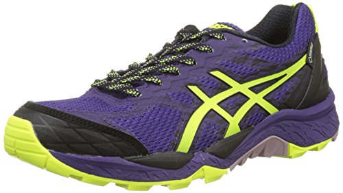 Asics ASICS Damen Gel-Fujitrabuco 5 G-TX Laufschuhe, Violett (Parachute Purple/Safety Yellow/Black), 38 EU