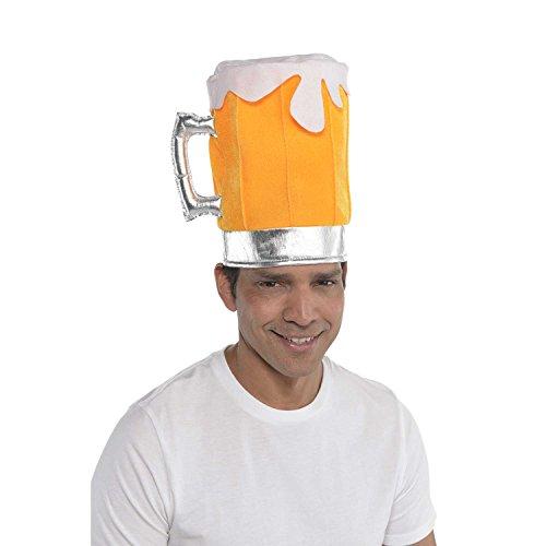 amscan 846195-55 Disfraz de sombrero de cerveza, 1 unidad