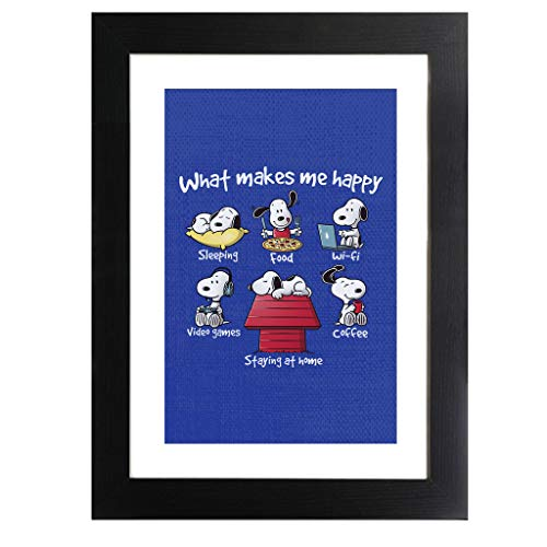 Cloud City 7 Snoopy Staying at Home Makes Me Happy Framed Print