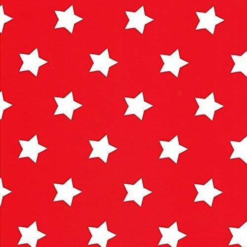 Toile Cirée Nappe Table au Mètre Noël Étoiles Dessin Taille au Choix en Carré Rond Ovale (100 cm Rond, M90352 Rouge)
