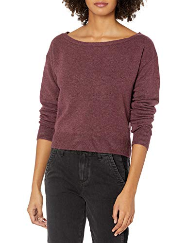 GUESS Women's Long Sleeve Tanya Boat Neck Sweater, Engine Red Multi, Medium