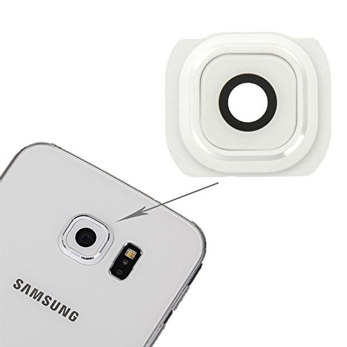 IPartsBuy for Samsung Galaxy S6 Back Camera Lens Cover Accessory Verwisselbare Replacement (Color : White)