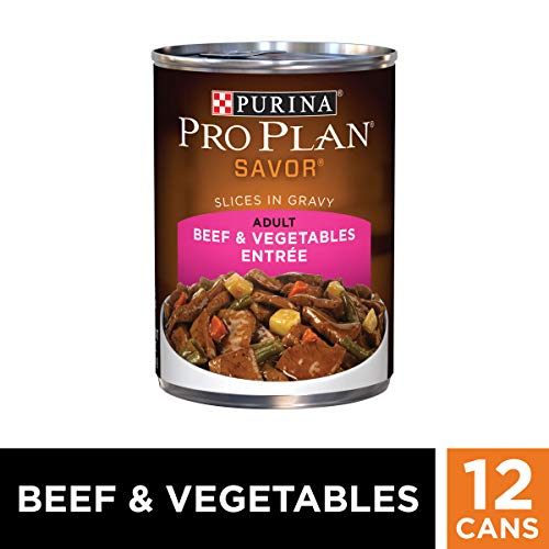 Purina Pro Plan Wet Dog Food, Savor, Adult Beef & Vegetables Entrée Slices