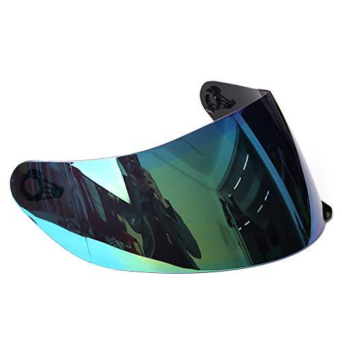 rongweiwang Motoccycle Motocross Wind Shield Casco Cara Completa Anti-UV Motocross Wind Shield Helmet Anti-Fog Lens Visor para 316 902 AGV K5 K3SV Color Random