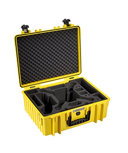 B&W International 5100022 - Funda con Compartimentos para dji Phantom, Amarillo