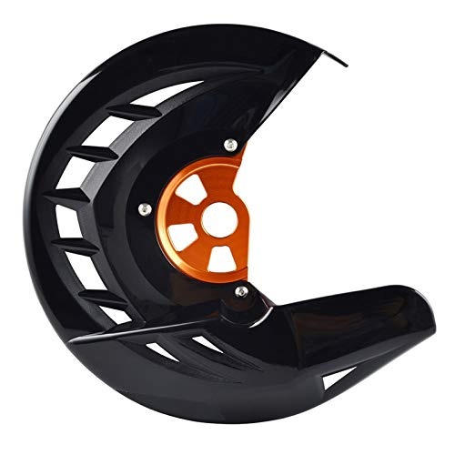 MSFDOG Protector de Disco de Freno Delantero Gaurd para Husqvarna TE FE 125 250 300 350 449 450 480 501 2014 2015 para KTM Exc SXF SX XCF Piezas de Motocicleta (Color : Black and Orange)