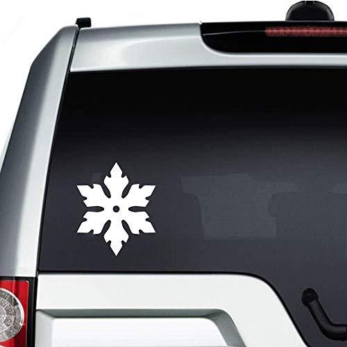 Schneeflocken-Vinyl-Aufkleber, lustig, gestanzt, Aufkleber für Auto, Stoßstange, Laptop, LKW, Fenster, Wände und mehr, weiß
