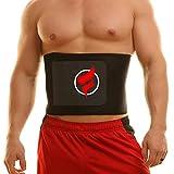 Fitru Waist Trimmer Sauna Ab Belt For Men & Women - Waist Trainer Stomach Wrap (Black, 10' X 50')