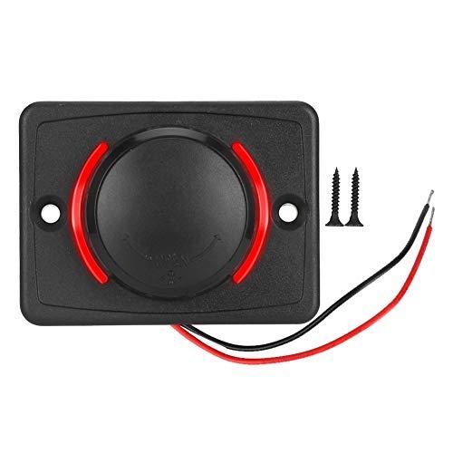 Cargador USB para coche, 3,1 A, CC 12 V/24 V, color negro, puerto USB, cargador de corriente con LED (rojo)