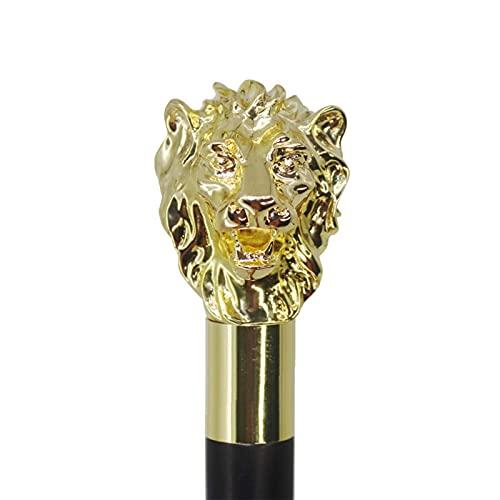N\C Canne de bâton de Marche de tête de Lion Vintage Classique, Cannes de décoration de Fantaisie de Style Vintage, 90 cm LKWK