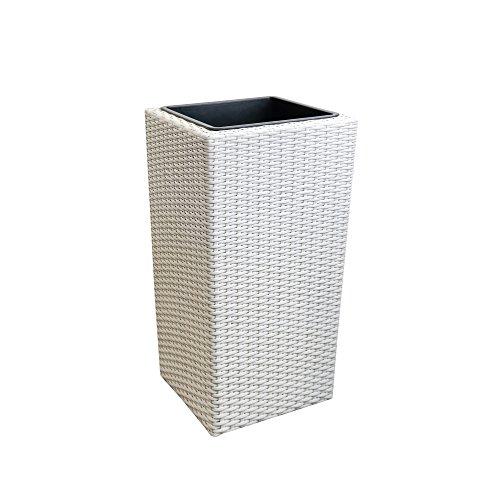 [Neu.Haus] Jardinera (LxAxA) 18x18x33cm Maceta Blanca - macetero - Tie