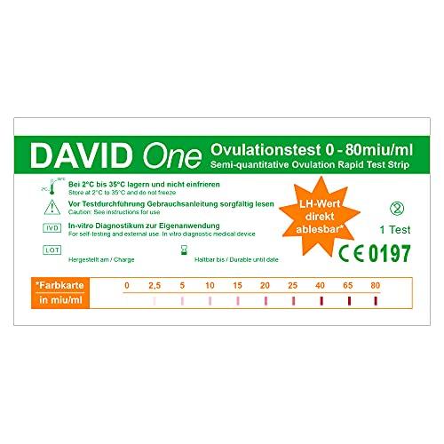 David One 50 x Ovulationstest 0-80 miu/ml mit LH-Wert Anzeige