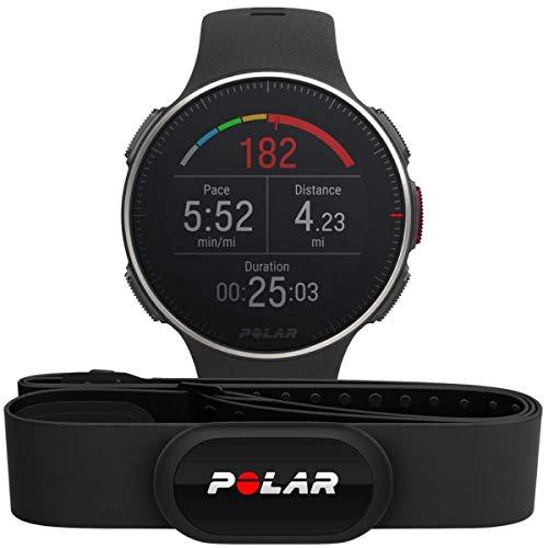 POLAR Unisex– Erwachsene Vantage V Titan HR Multisport Uhr, Schwarz/Rot, One Size