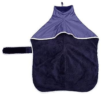 Ctomche Manteau d'hiver réfléchissant imperméable pour chien avec doublure polaire chaude imperméable avec bandes réglables pour lévriers lévriers, lévriers et Whippets Bleu marine XXL