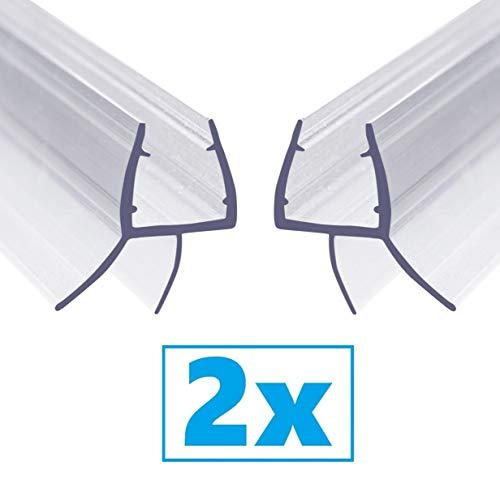2-pack - Aulett Home Frameless Shower Door Bottom Seal with Drip Rail - 3/8