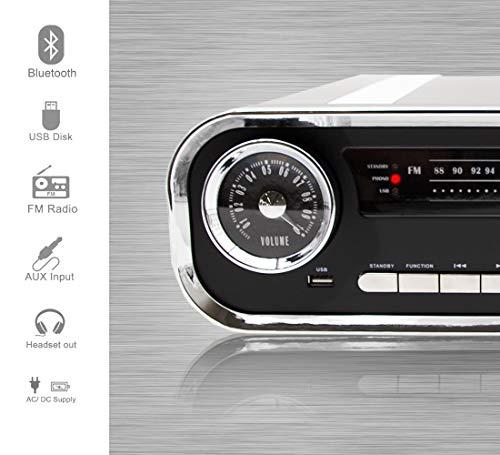 Lauson 01TT16 Tocadiscos Diseño Vintage Coche de Colección con 2 ...