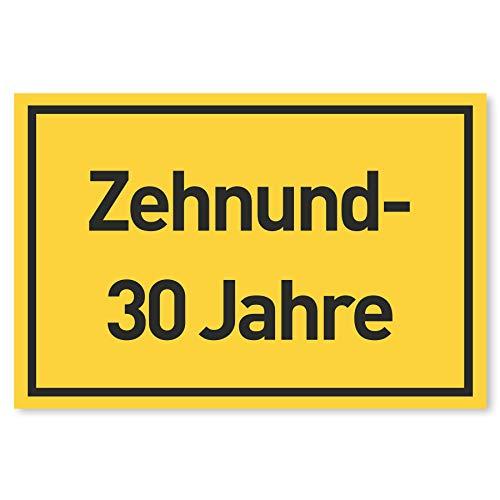 Gentle North 40 Geburtstag Schild für Männer und Frauen - Deko Geschenke Schild zum 40 Geburtstag - 30 x 20 cm Kunststoff
