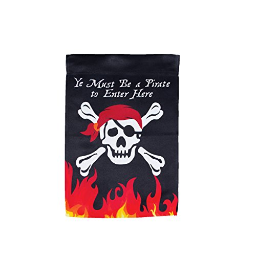 Pirate Skull and Bones Lustre Flag for Halloween Party