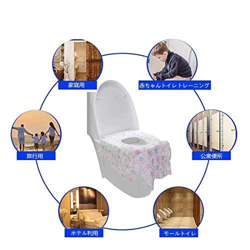 KMAKII 使い捨て便座シート 携帯便座シート 【30枚入り】 便座 シート 使い捨て 子供トイレ 防水 抗菌防臭 衛生管理 携帯 外出 旅行用