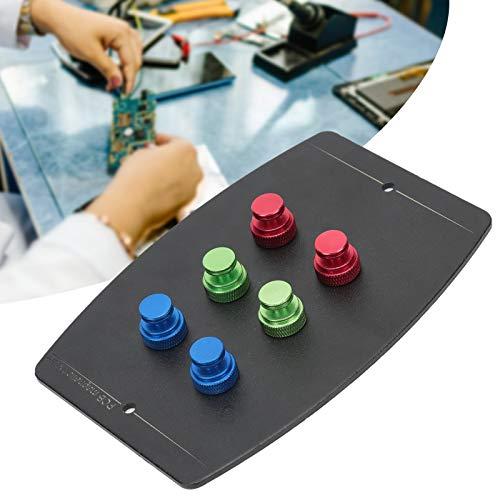 Chiwe Accesorio de Soporte de Placa PCB, reparación de Placa de Circuito PCB, Plataforma de Soldadura de PCB de 6 Bordes, Soldadura de imán de Metal para Placa de Circuito de Soldadura