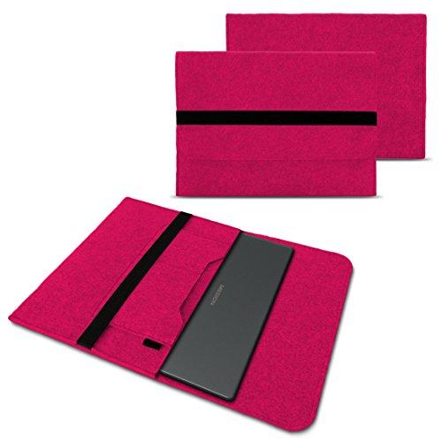 NAUC Schutzhülle kompatibel für Medion Akoya Akoya E4271 E4272 Convertible Tasche Hülle Filz Sleeve Cover Notebook Hülle, Farben:Pink