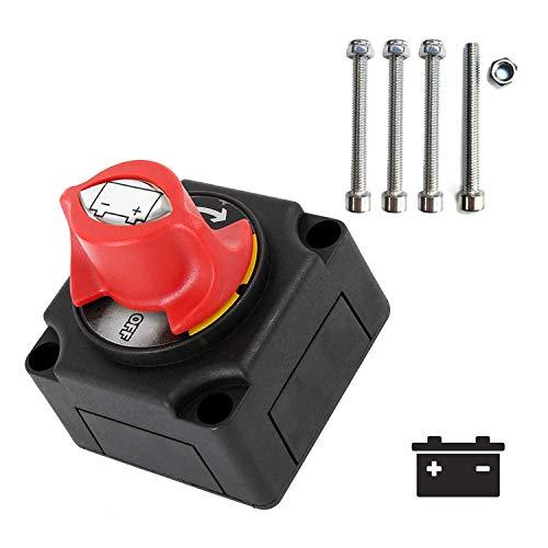 NSTART - Interruptor aislador de batería de 12 a 48 V,Interruptor de Corte de Energía,Master Power Interruptor de Desconexión de Encendido/Apagado para Marina Barco/Coche/Vehículos,etc