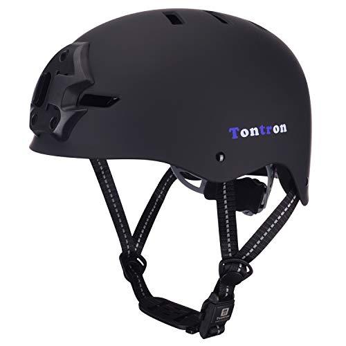 Tontron Skate/Bike/BMX Helmet with Camera Mount...