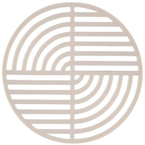 Circles Silicone Trivet, Warm Grey