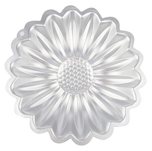 SIMUER Sonnenblume Blüten Blume Torten Kuchen Form, 8 inch Blume Kuchen Backen Pfannen, Aluminiumlegierung Backform Kuchenform Handgemachte Seife Silikonform, DIY Backform