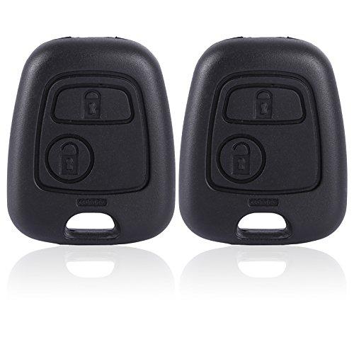 Hamimelon 2 Stück Ersatz Schlüssel 2 Tasten Funkschlüssel Fernbedienung Gehäuse Rohling