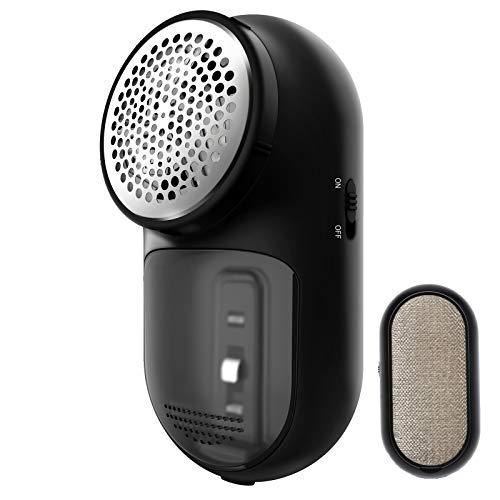 AIRMSEN Quitapelusas Eléctrico, 2 en 1 Quitapelusas para Ropa USB Recargable con Cepillo de Pelusa, Adecuado para Todas Las Prendas