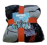 Fornite Primark Licensed Manta de Forro Polar para niños, diseño de Personaje, Color Gris