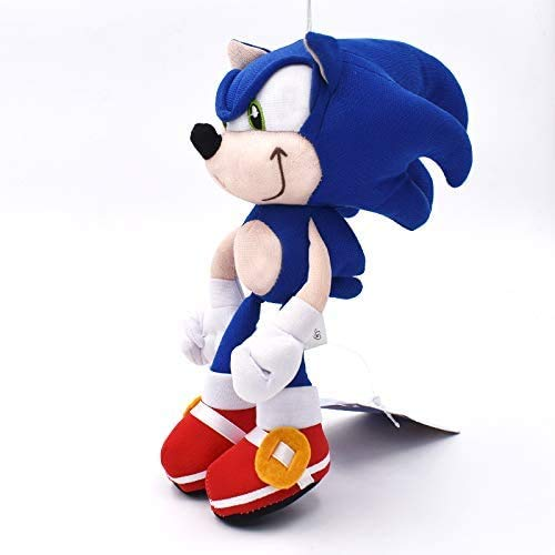 Sonic Boom Peluche, Cartoon Pp Cotton Sonic Peluche Bambole Peluche, Peluche Blu per Bambini Regali di Compleanno 20 cm