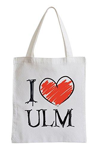 I Love Ulm Fun Sac de Jute